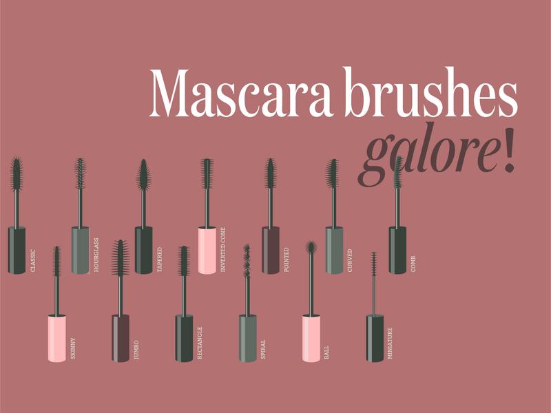 Mascara brushes galore! Illustrations