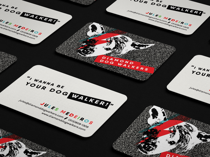 Diamond Dog Walkers Business Cards