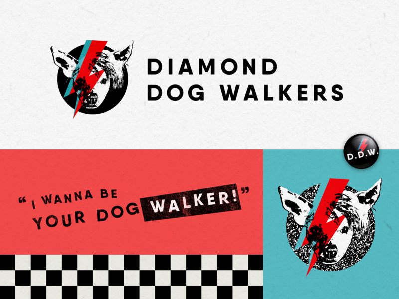 Diamond Dog Walkers Branding