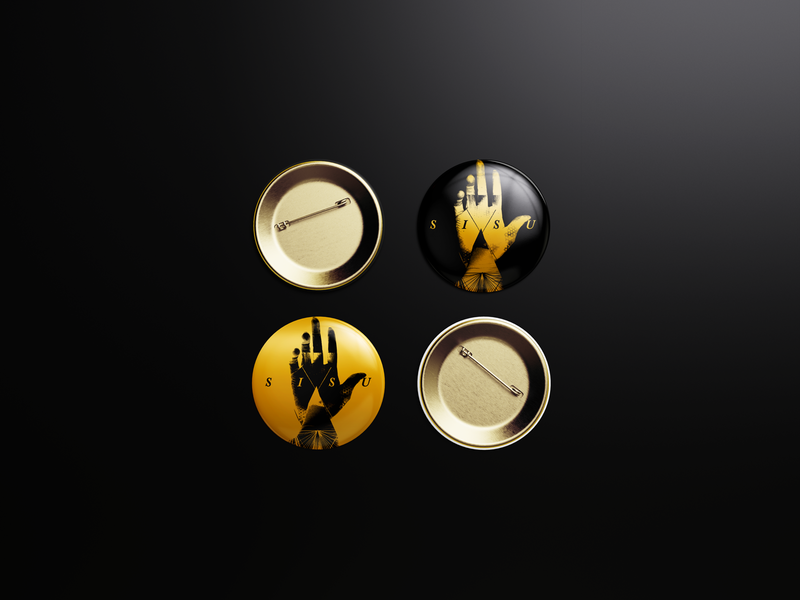 SISU Merch Hand Theme Button
