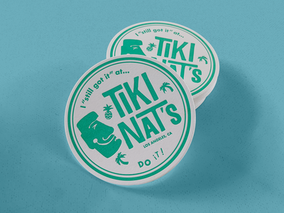 Tiki Nat's Drink Coaster