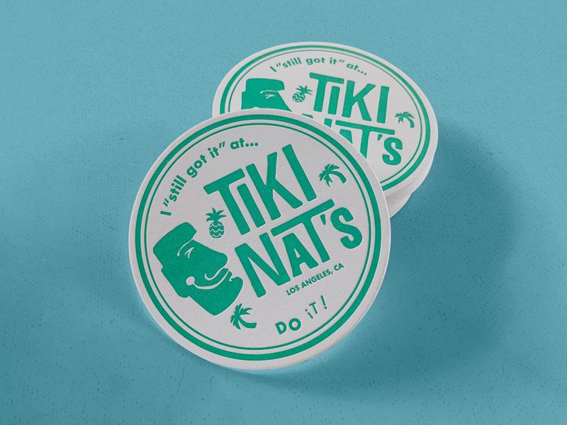 Tiki Nat's Drink Coaster