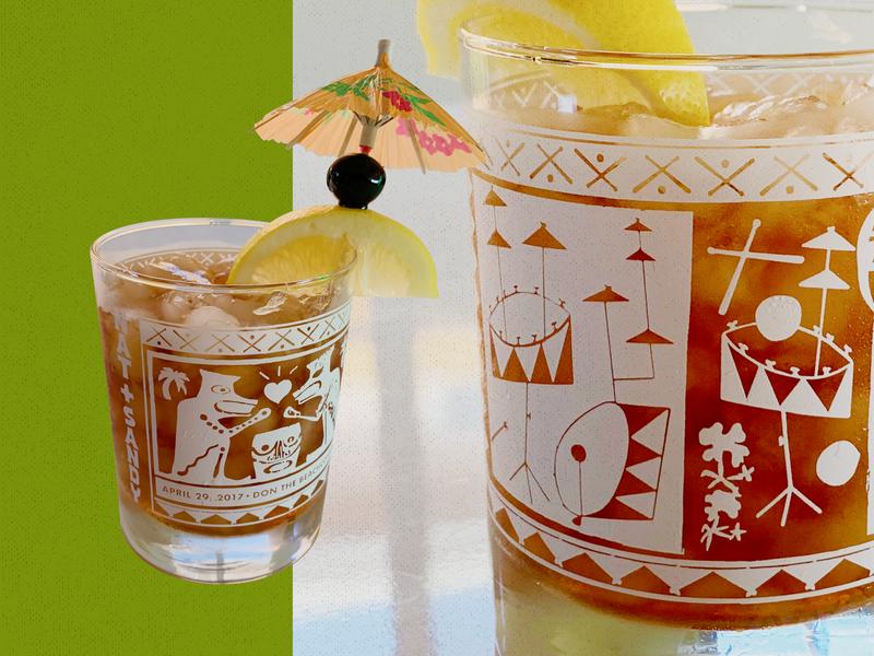 Couple Drum Battle Tropical Drinkware