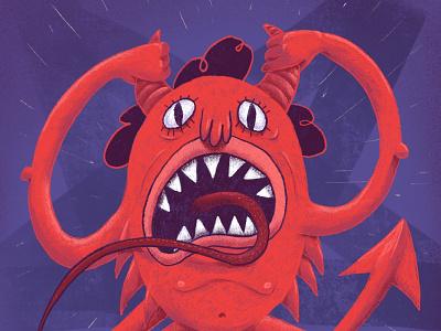 Hell Scream scream hell imp demon red dribbble design character art illustration