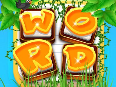Word Puzzle Game Icon kite ui app design app vector adobe xd logo mobile ios app adobe illustrator adobe photoshop design free psd icon game design game puzzle game puzzle word
