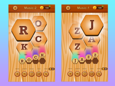 Word Link Puzzle Game Design