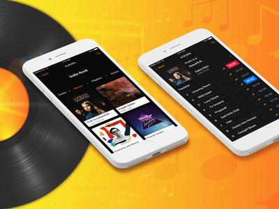 Mobile music album app design