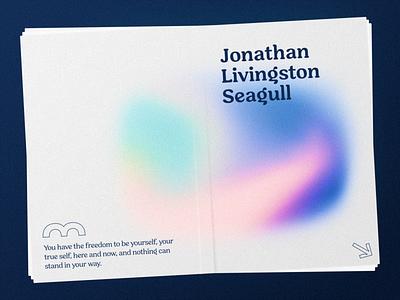 Jonathan Livingston Seagull gradient design gradients brutalist design brutalism branding design branding book cover book