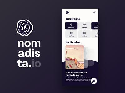 Nomadista   Comunidad de gente en movimiento typography graphic design illustration branding