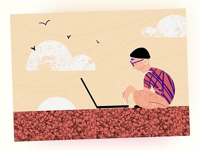 Working and traveling, remember? nomad freelance illustrator freelance blog illustration blog graphic design traveling travel illustration colorful