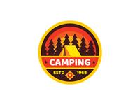 Travel Camping Badge