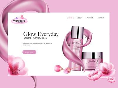 Cosmetic E-commerce Website creative branding hmsdesigns dubai designer freelancer ux designer ui designer graphic designer web designer website template cosmatic website mockup website layout website concept website design webdesign website