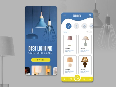 Lighting Mobile App Concept hmsdesigns dubai designer freelancer graphic designer web designer ux designer ui designer mobile application mobile design mobile app design mobile ui mobile app lights lighting application design application ui application app design app