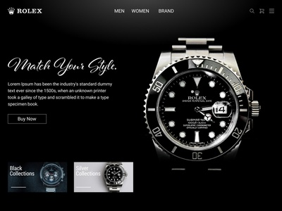 Rolex Website Concept hmsdesigns freelancer graphic designer ux designer ui designer website ui design website layout website mockup website concept website design web design webdesign website ecommerce design ecommerce shop ecommerce app ecommerce rolex watches