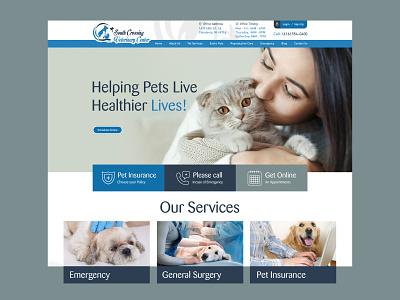 Pet Caring Website homepage concept website home page website mockup free psd pet caring pet website wirefram concept mockup layout website