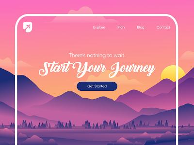 Traveling Website traveling website plan your trip schedule trip travel website planning website ux design ui design layout mockup website