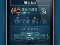 iOS game player stats