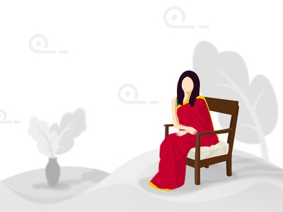 Mystic Queen! illustration drawing character asian culture saree lady
