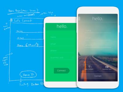 A better contact sharing app ui ux design app