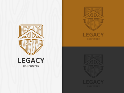 Logo WIP woodgrain wood illustrator logo