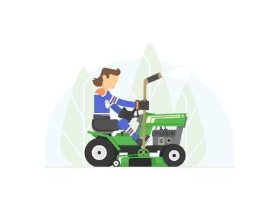 Grass Goons web hockey grass lawn care illustrator vector