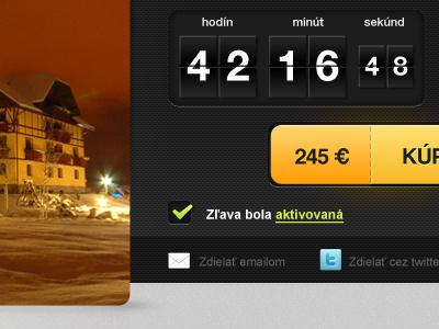 Voucher elements webdesign voucher flipclock flip button yellow carbon time buy