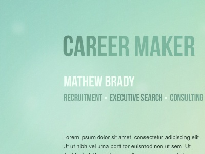 Career maker background gradients color green minimalism webdesign