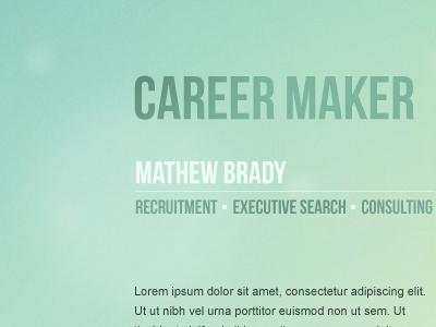 Career maker background gradients color green minimalism webdesign
