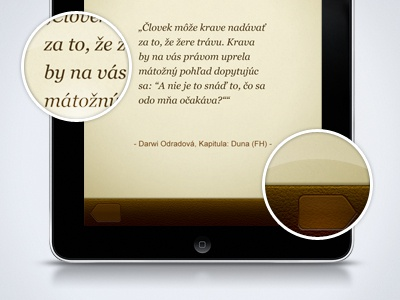 App snapshot ios app paper leather typography ipad magnifier redesign quotes motivation