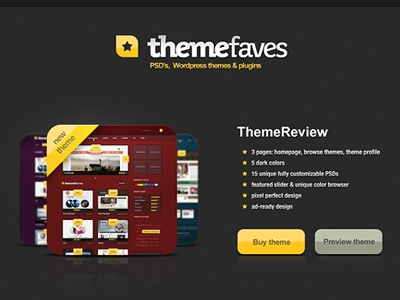 ThemeFaves - landing page landing page theme selling dark thumbnail