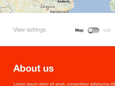 Switcher ui ux design switcher map list red maps product page