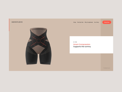 Honeylove Sculptwear™ Shopify eCommerce Design shapewear female-founded wordpress woocomerce back end front end development landing page ecommerce landing page product page ecommerce app ecommerce shop beauty product beauty app skincare ecommerce e-commerce shopify marketing shopify store shopify plus shopify