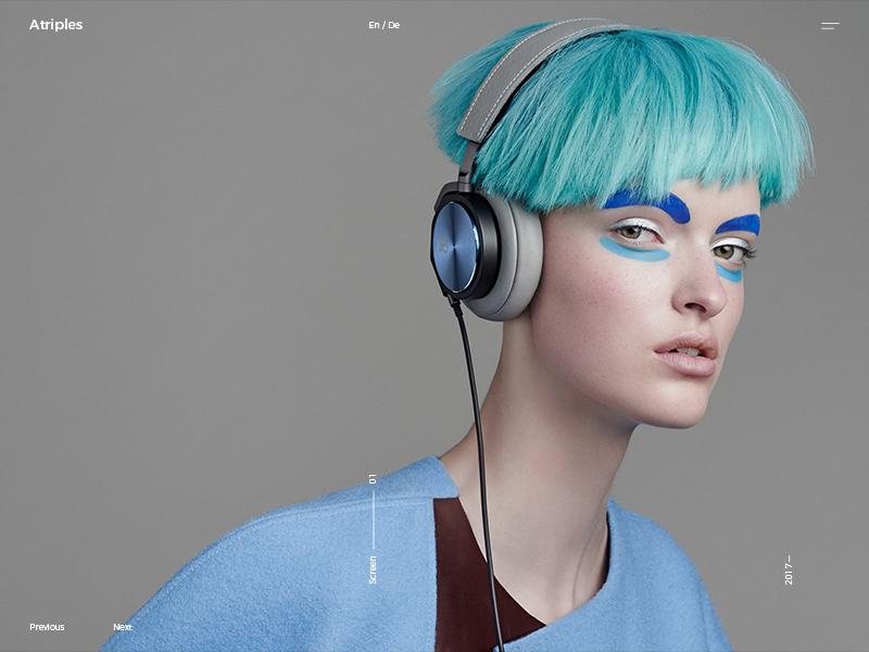 Atriples invite models digital uiux agency adencys music fasion blue