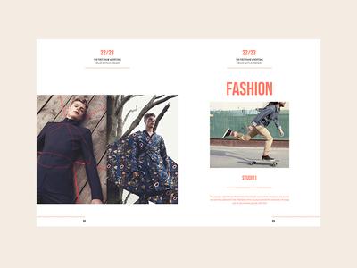 UF — Fashion Brochure muzli ux ui brochure models fashion longboard invitation invite adencys