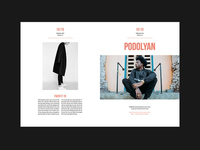UF — Fashion Brochure spread brochure editorial models invite ux ui black typography fashion dark