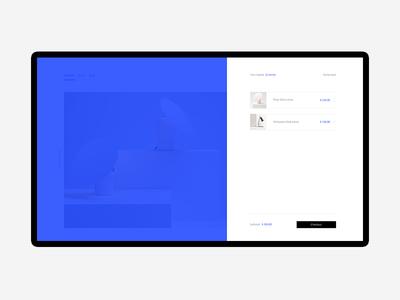 DCR — Shopping Cart sidebar pop-up html ui ux desktop wordpress shopify ecommerce basket muzli