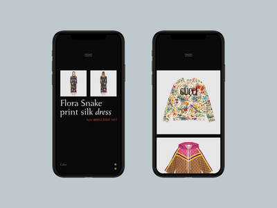 Gucci eCommerce app — conceptual solution