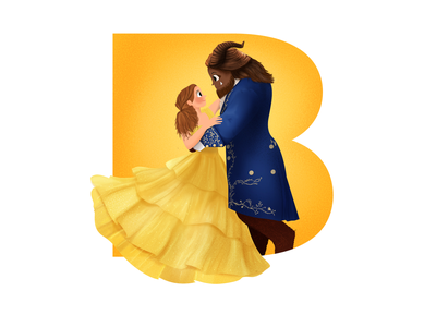 Disney I Movies I Beauty and the beast beauty and the beast disney art disney disney princess character design digital painting character dribbble illustration design