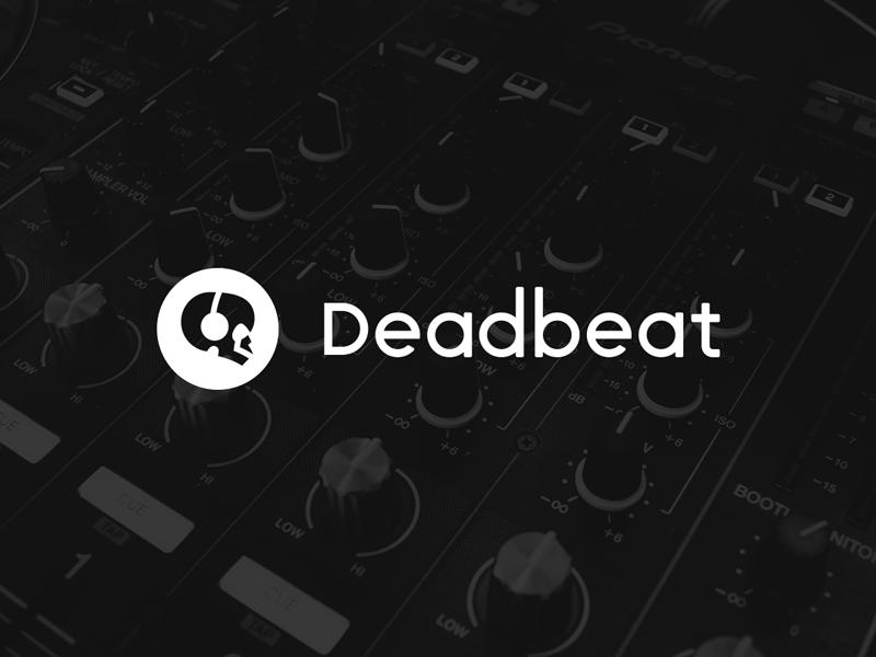 Deadbeat dribbble skull beat logo music