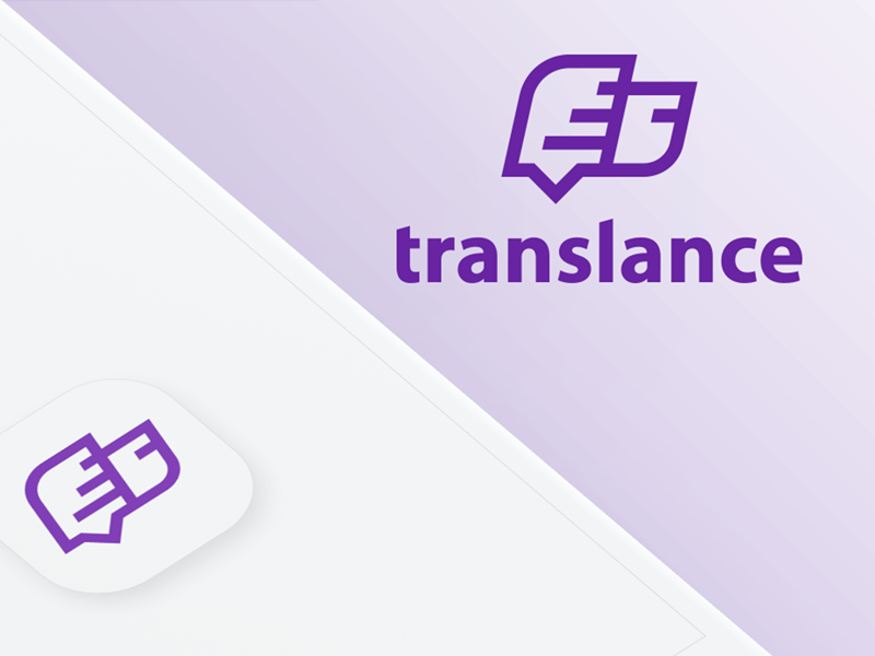 Translance dribbble logo truck violet message car freelancer
