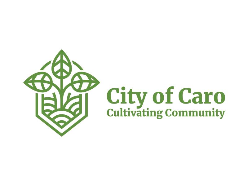 City Of Caro dribbble community sugar field farm green city logo design logo
