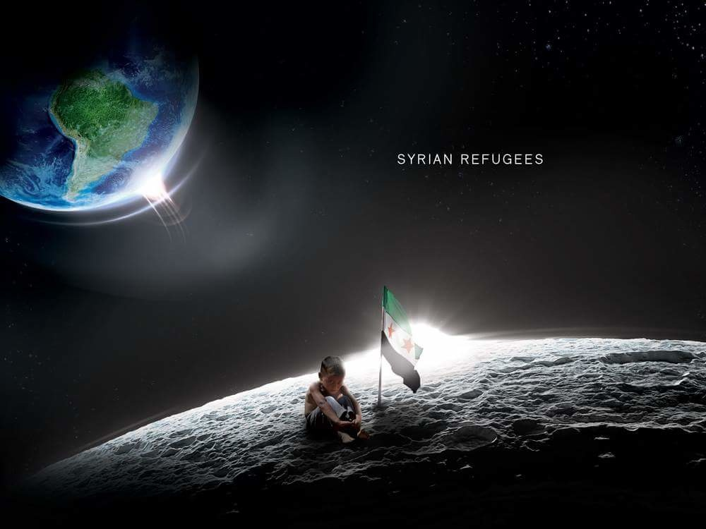 Syrian refugees space arabic dribbble desain refugees syria