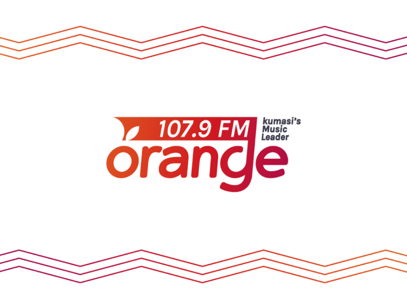 Orange 107.9 Fm logo dribbble radio music orange