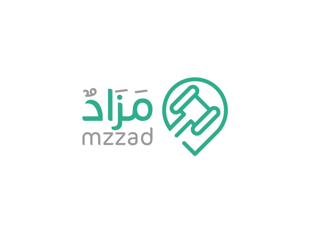 Mzzad hummer bidding type dribbble arabic logo