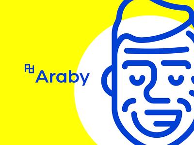 Araby - SelfBranding behance logo yellow selfbranding brand design branding brand design blue illustration logotype dribbble