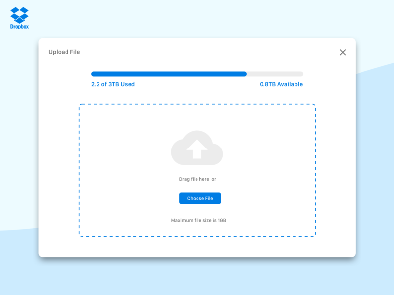 Daily UI 031 - File Upload file upload dropbox
