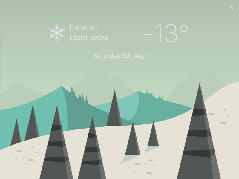 Daily UI 037 - Weather snow weather