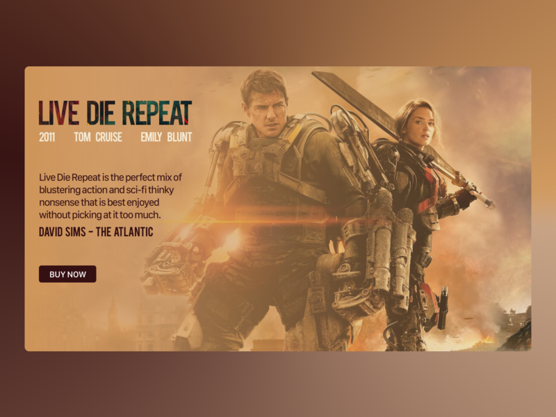 Daily UI 039 - Review emily blunt live die repeat tom cruise movie