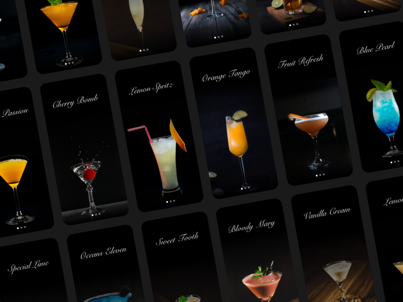 Daily UI 040 - Recipe recipe drink menu drink cocktail
