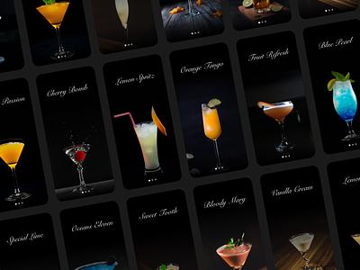 Daily UI 040 - Recipe recipe drink menu drink cocktail